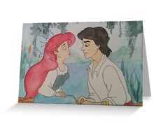 The Little Mermaid Watercolor Greeting Card
