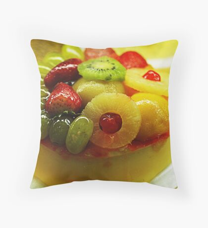 Fruity Cheesecake Throw Pillow