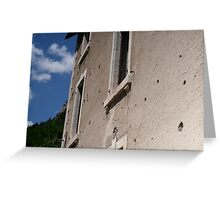 bullet holes Greeting Card