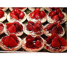 Strawberry Tarts Photographic Print