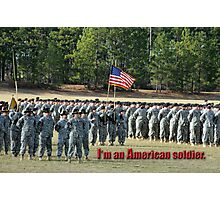 American Soldier Photographic Print