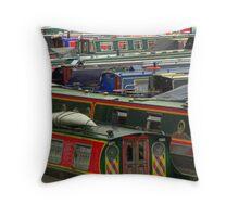 Braunston Marina Throw Pillow