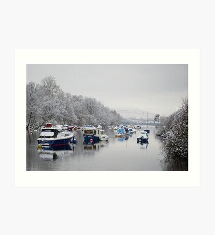 River Leven in Winter Art Print