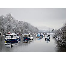 River Leven in Winter Photographic Print