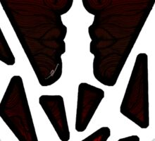 Strange Faces II - Your Face (black version) Sticker