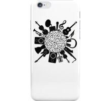 Music Notes  Instrument Collage iPhone Case/Skin
