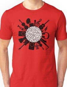 Music Notes  Instrument Collage Unisex T-Shirt