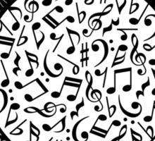 Music Notes  Instrument Collage Sticker