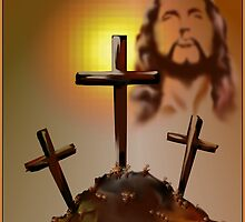 Jesus and Three Crosses by Lotacats