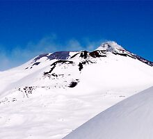 skiing on top of Etna by Andrea Rapisarda