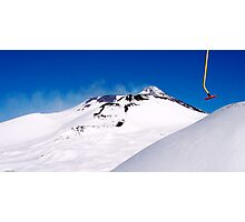 skiing on top of Etna Photographic Print