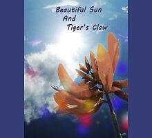Beautiful Sun light and Tiger's Claw Womens Fitted T-Shirt