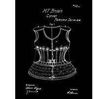 Adorable Vintage Corset Photographic Print