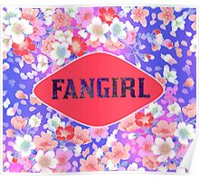 FANGIRL - FLORAL PINK Poster