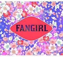 FANGIRL - FLORAL PINK Photographic Print