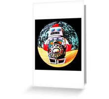Fisheye robot Greeting Card