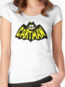 Cartman 1960's Logo Mashup Women's Fitted Scoop T-Shirt
