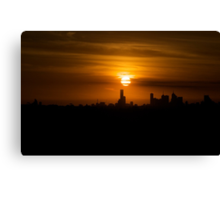 Sunset over Melbourne a week after Black Saturday Canvas Print
