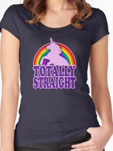 Funny - Totally Straight (vintage distressed look) Women's Fitted Scoop T-Shirt