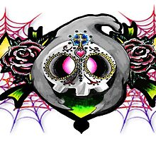 Duskull-day of the dead tattoo theme. by AderynValentine