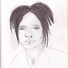DJ Ashba Sketch.  by RLMcQueen