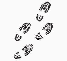 Shoe prints One Piece - Short Sleeve