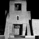 San Miguel Mission, Santa Fe, in Infrared by Mitchell Tillison