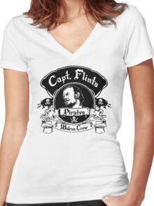 Captain Flints Pirates - Walrus Crew Women's Fitted V-Neck T-Shirt