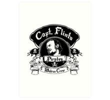 Captain Flints Pirates - Walrus Crew Art Print