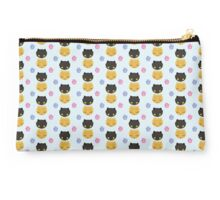 Tabby and Black Cat heads Studio Pouch