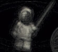 Lego fencer abstract 3 Sticker