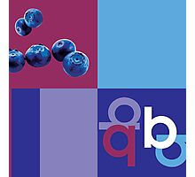 B is for Blueberry. Photographic Print