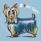 Love My Silky by offleashart