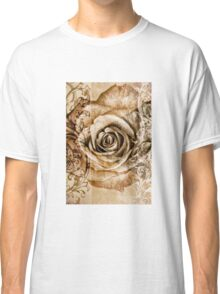 Sepia Bloom Classic T-Shirt