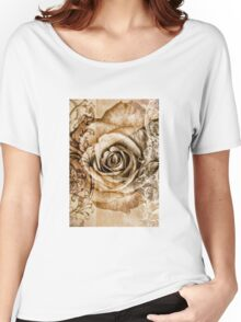 Sepia Bloom Women's Relaxed Fit T-Shirt