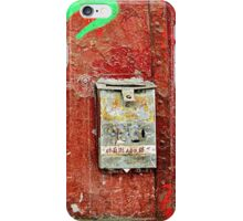 Green Letters and a Mailbox  iPhone Case/Skin