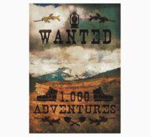 Wanted 1000 Adventures Kids Tee
