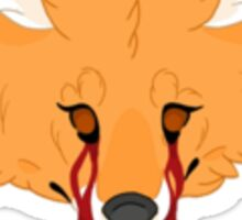 creepy cute fox original artwork print Sticker