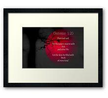 Genesis 1:20 Framed Print