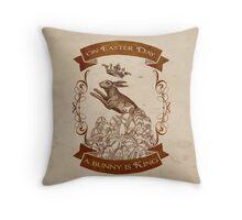 Bunny King Throw Pillow