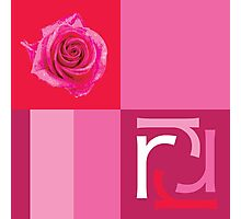 R is for Rose. Photographic Print
