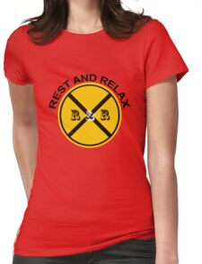 REST AND RELAX Womens Fitted T-Shirt