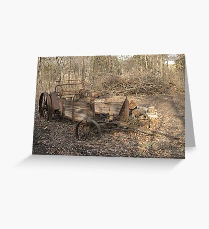 Old john deer Manure spreader Greeting Card