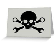 Skull 'n' Tools - Screw Pirate 1 (black) Greeting Card