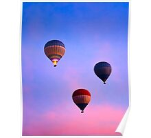 Cotton Candy Skies - Balloons Over Luxor, Egypt Poster
