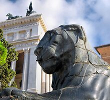 Lion on the Capitoline Hill by BRENDA KEAN