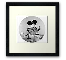 Mickey Guide: How to Kill Framed Print