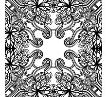 floral lineart pattern Photographic Print