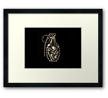 Bone Grenade Framed Print