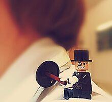 Lego Penguin on shoulder by MBradders